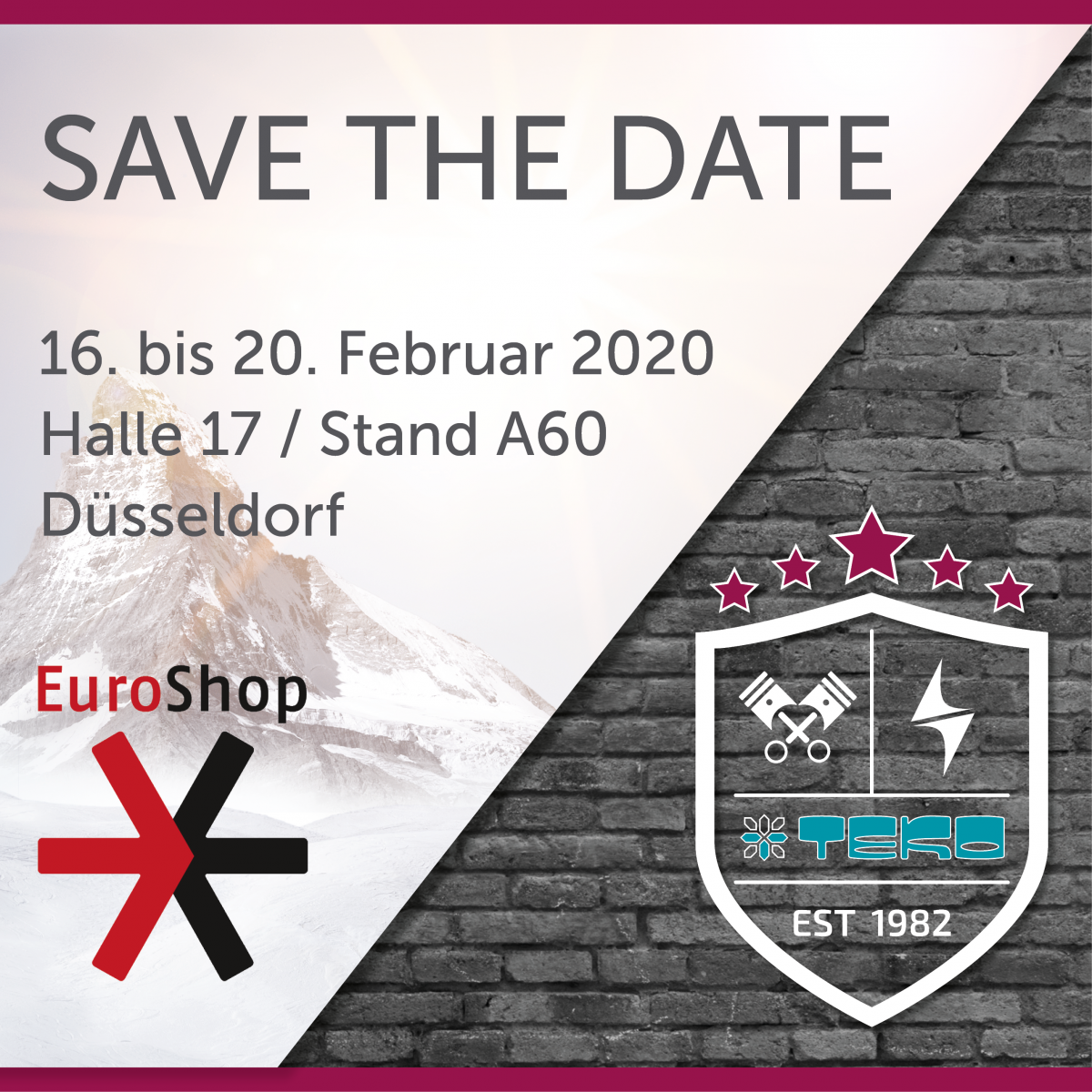teko news save the date euroshop 2019 6750x675   - SAVE THE DATE - Euroshop 2020